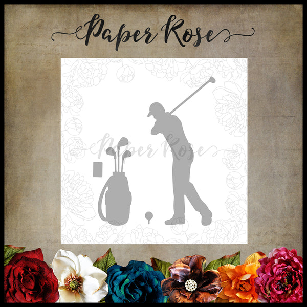 Paper Rose Die set - Golf