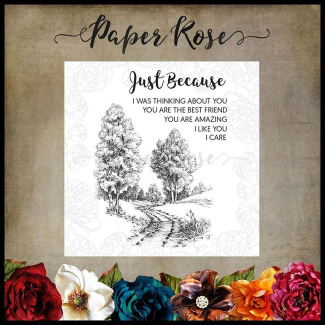 Paper Rose Stamp set - Into the Woods