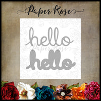 Paper Rose Die set - Hello Layered
