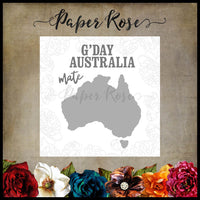 Paper Rose Die set - Map of Australia