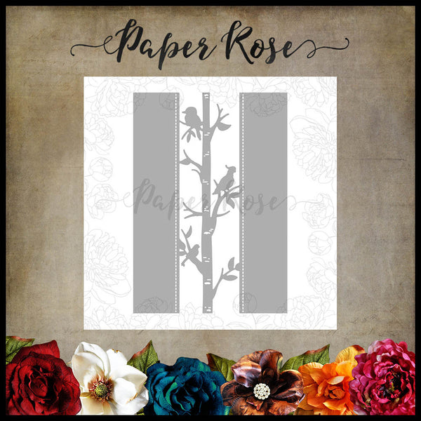 Paper Rose Die - Native Birds Border