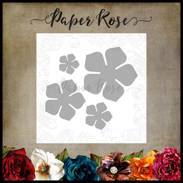 Paper Rose Petunia Flower Set