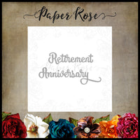 Paper Rose Die set - Retirement Anniversary
