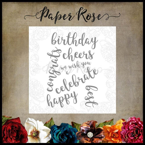Paper Rose Stamp set - Sentiments 2