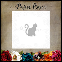 Paper Rose Die - Sitting Cat Small