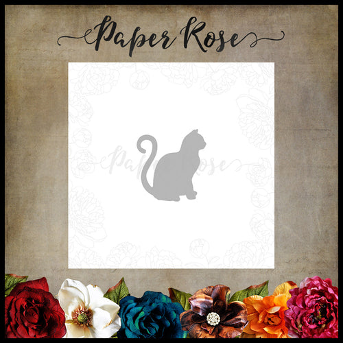 Paper Rose Sitting Cat Small