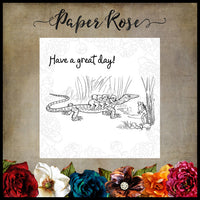 Paper Rose Stamp set - Snugglepot & Cuddlepie Great Day
