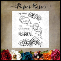 Paper Rose Stamp set - Snugglepot & Cuddlepie Little Things