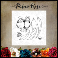 Paper Rose Stamp set - Snugglepot & Cuddlepie Peeking Out