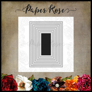 Paper Rose Die set - Stitched Rectangles