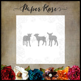 Paper Rose Die set - Three Little Lambs