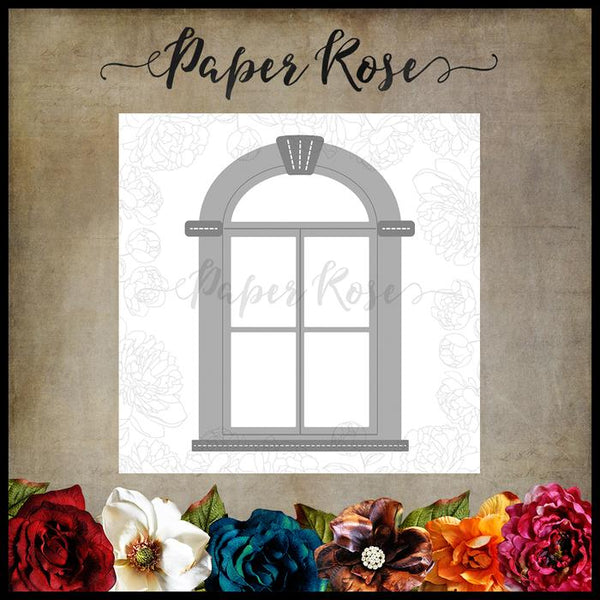 Paper Rose Die set - Tudor Window