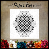 Paper Rose Victorian Oval Lattice Frame