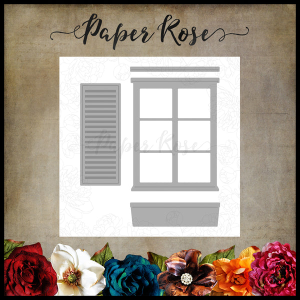 Paper Rose Die set - Window & Accessories
