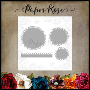 Paper Rose Die set - Wonky Scalloped Circles