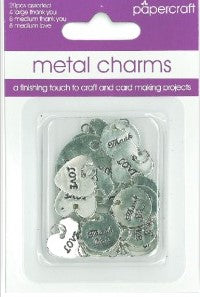 Papercraft Metal Charms