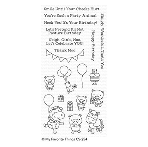 My Favorite Things Party Animals Stamp