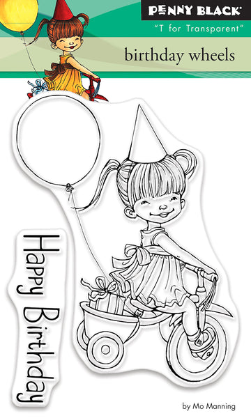 Penny Black Stamp set - Birthday Wheels