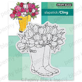 Penny Black Stamp - Blooming Boots