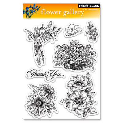 Penny Black Stamp set - Flower Gallery