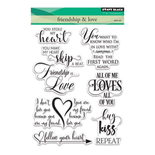 Penny Black Stamp set - Friendship and Love