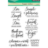 Penny Black Stamp set - Happy Wishes