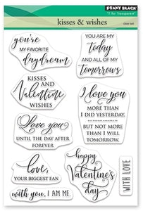 Penny Black Stamp Set - Kisses & Wishes