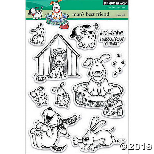 Penny Black Clear Stamp - Man's Best Friend