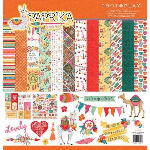 "Photoplay Paper Pack 12"" x  12"" - Paprika"