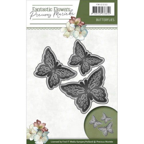 Find It Trading Precious Marieke Fantastic Flower Die - Butterflies