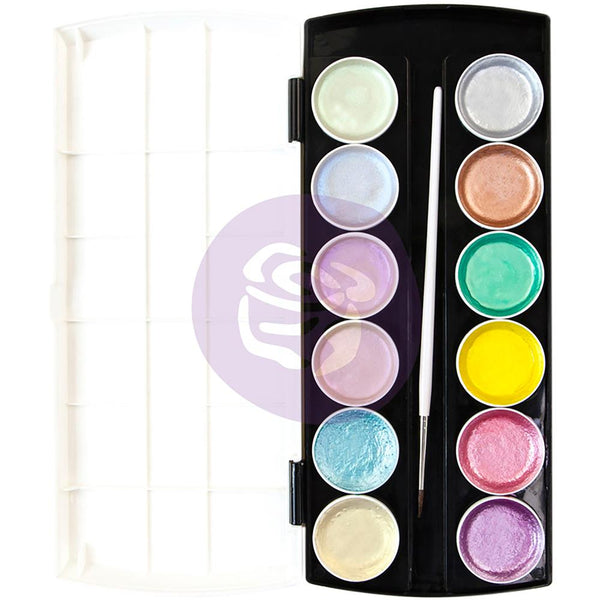 Prima Paint Set Semi-Watercolour - Metallic Pastel Accents