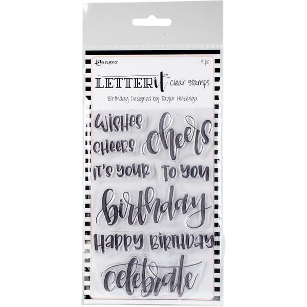 Ranger Letter It Clear Stamps - Birthday