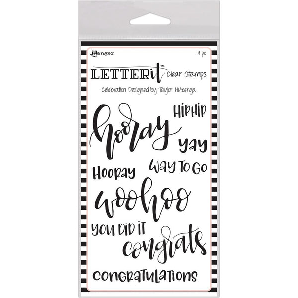 Ranger Letter It Clear Stamps - Celebrate