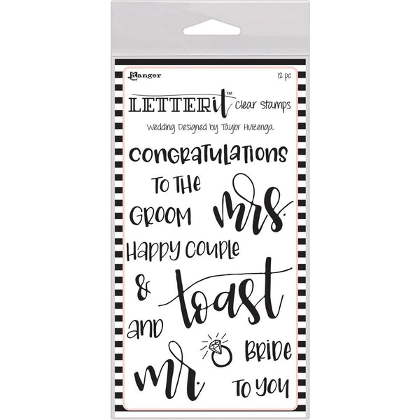 Ranger Letter It Clear Stamp set - Wedding