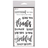 Ranger Letter It Clear Stamp Set - Thank You