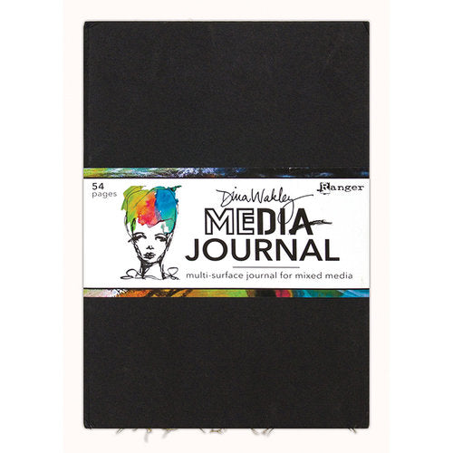 "Ranger Media Journal Dina Wakley 10 x 14.25"" Black"