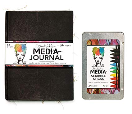 "Ranger Media - Journal Dina Wakley 7.75 x 10.25"" Black"