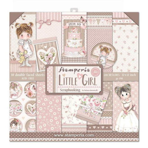 "Stamperia Paper Pack 12"" x 12"" - Little Girl"