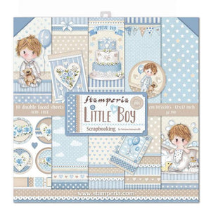 "Stamperia Paper Pack 12"" x 12"" - Little Boy"