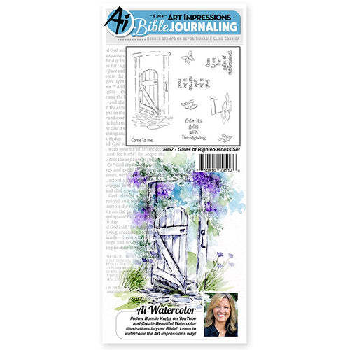 Art Impressions Stamp Set - Gates of Righteousness