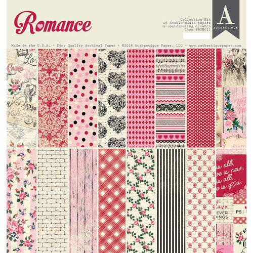 "Authentique Paper Pad 12"" x 12"" - Romance"