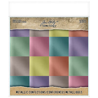"Tim Holtz Idea-Ology Paper Pad 8"" x 8"" - Metallic Confections"