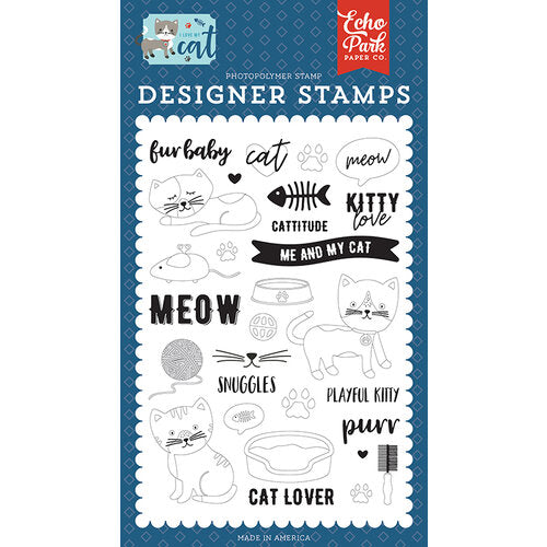Echo Park Stamp Set - Kitty Love