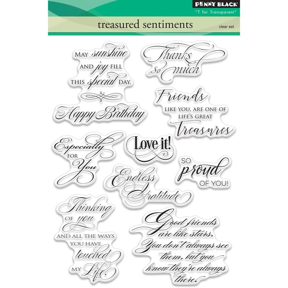 Penny Black Stamp set - Treasured Sentiments