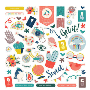 "Photoplay Sticker Sheet 12"" - Free Bird"