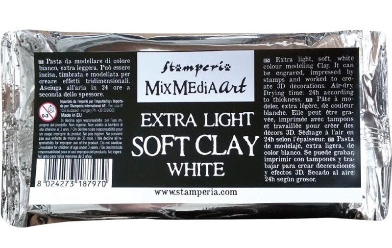 Stamperia Soft Clay White - 160gm