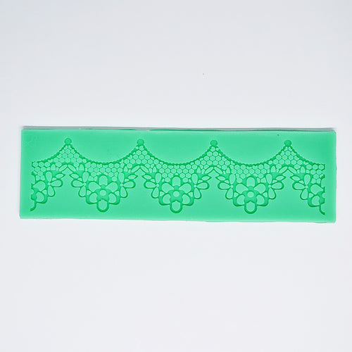 Silicone Mold - Scallop Flower Lace