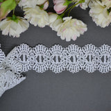 Scallop Ribbon Through Lace - 30cm