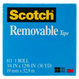 Scotch ® Removable Tape .75
