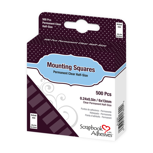 Scrapbook Adhesives Mounting Squares - Permanent Clear